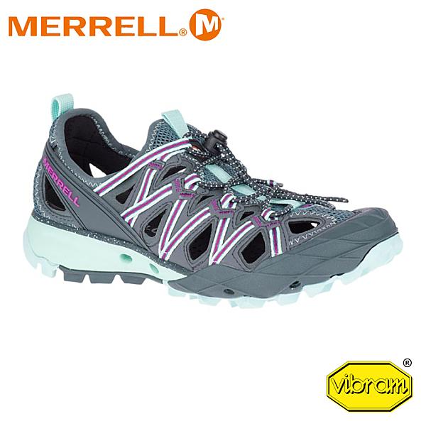 【MERRELL 美國 女 Choprock Shandal 水陸兩棲運動鞋《淺灰藍》】52770/低筒鞋/越野/防水