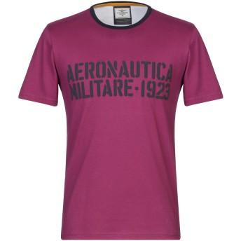 《セール開催中》AERONAUTICA MILITARE メンズ T シャツ モーブ S コットン 100%