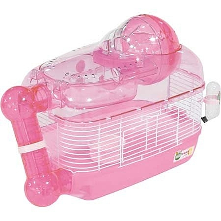 『寵喵樂旗艦店』 日本Marukan基本款鼠籠套房MR-328粉紅MR-329綠色日本原裝耐用