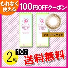 エバーカラーワンデー モイストレーベル シェリーファッジ 10枚入×2箱 / 100円OFFクーポン / 送料無料 / メール便