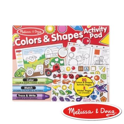 美國瑪莉莎 Melissa & Doug 學習貼貼樂–學習顏色和形狀