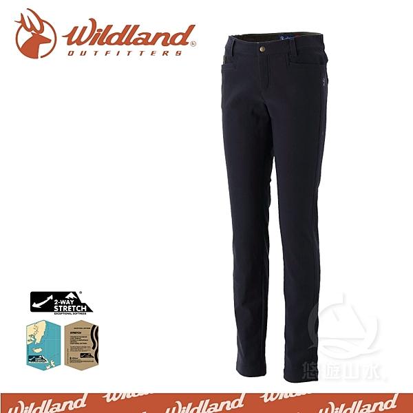 【Wildland 荒野 女 RE彈性合身保暖長褲《深藍》】0A32391-72/保暖機能褲/工作褲/爬山健行戶外休閒褲