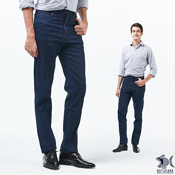 【NST Jeans】無重力波紋 澄藍 秋冬印花牛仔男褲(中腰) 390(5713) 台製 紳士 四季款