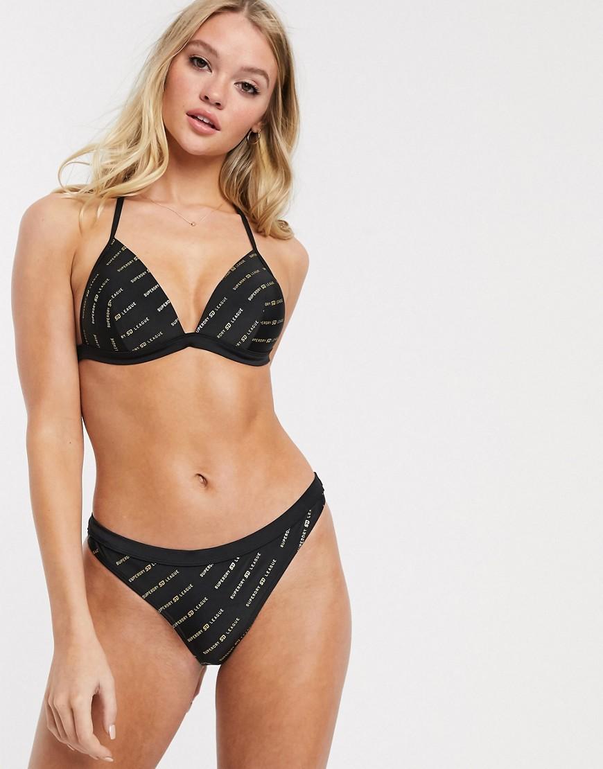 Superdry monogran bikini bottom-Black