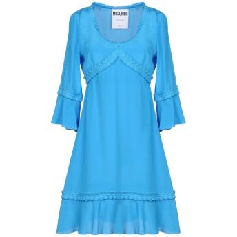 《セール開催中》MOSCHINO レディース ミニワンピース&ドレス アジュールブルー 42 シルク 100%