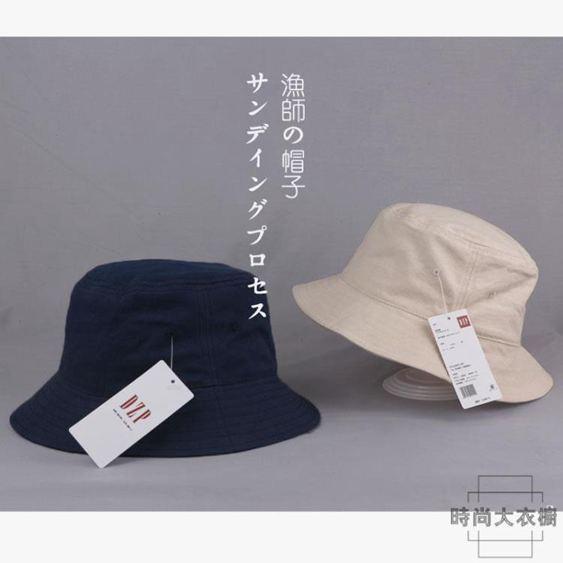 重磅推薦!日本客供超軟有機棉漁夫帽男女日系帽子基礎款chic盆帽