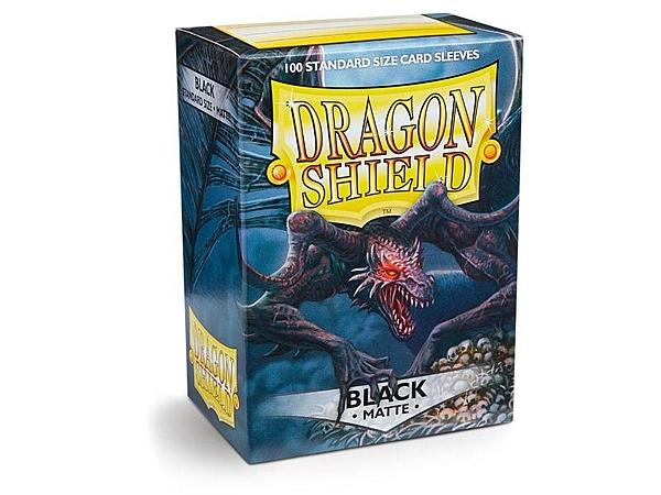 『高雄龐奇桌遊』 龍盾 磨砂牌套 卡套 黑 Black Dragon Shield Sleeves 正版桌上遊戲專賣店