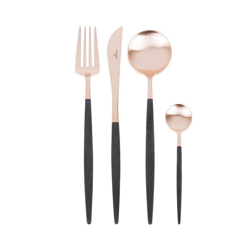 | 極美玫瑰金 |GOA系列 黑玫瑰金主餐四件組(主餐刀叉匙+咖啡匙)