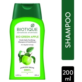 Biotique Bio Green Apple Fresh Daily Purifying Shampoo And Conditioner, 200ml (Ship from India)