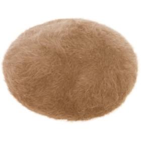 TRAX SHOP 15色 ベレー帽 レディース アンゴラタッチふんわりベレー帽 (ポッチ無しベージュ)