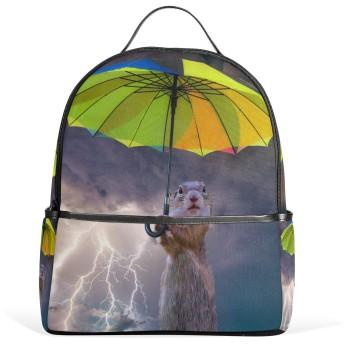 リュック リュックサック バックパック レディース 学生 大容量 デイバッグ 傘 稲妻 リス 動物 おしゃれ 通勤 通学