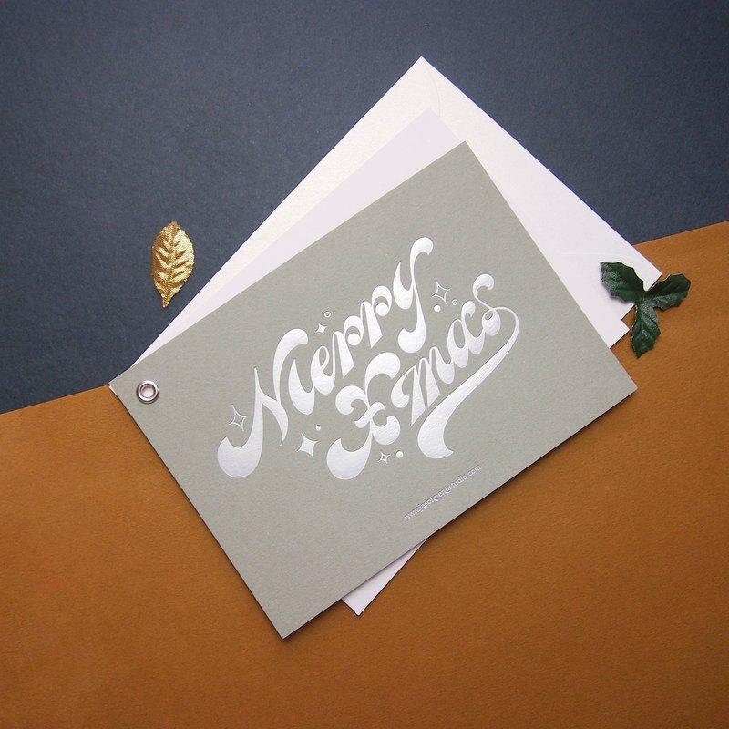字體設計    聖誕卡    2色可選 (紅/灰綠)