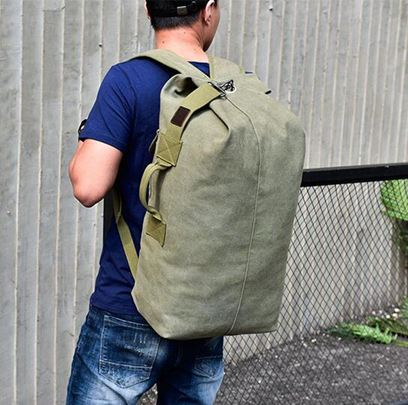 登山背包 雙肩包戶外旅行水桶背包帆布登山運動超火個性大容量行李包