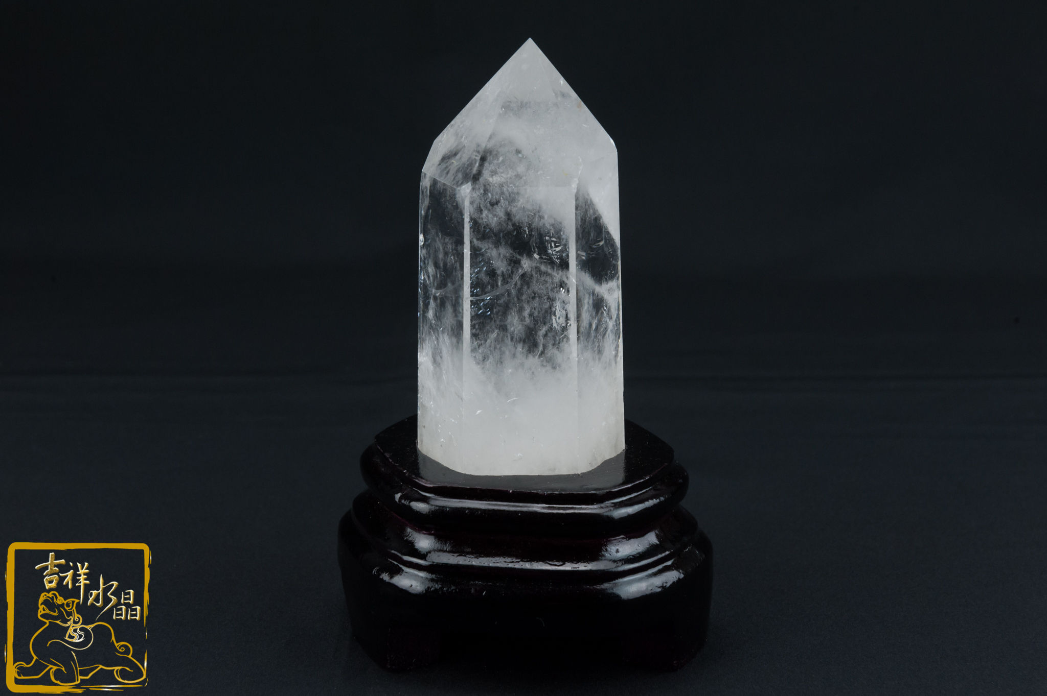 【吉祥水晶】白水晶柱 14.5cm