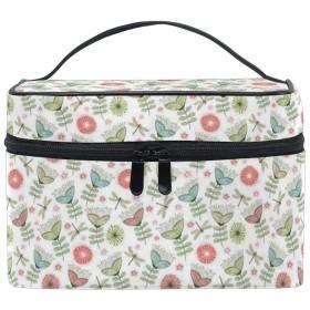三郎の市場 フローラル 化粧ポーチ メイクポーチ ミニ 財布 機能的 大容量 化粧品収納 小物入れ 普段使い 出張 旅行 メイク ブラシ バッグ 化粧バッグ