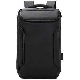 QTMIAO-Bags 多機能防犯ビジネストラベルバックパックショルダーバッグショルダーバッグ創造的なUSB (Color : Black)