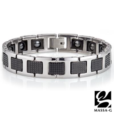 MASSA-G 摩登悍將 鎢鋼純鈦能量手環