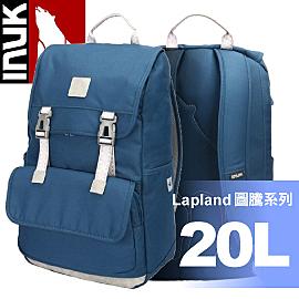 【INUK 加拿大 20L Lapland圖騰電腦雙肩背包《海神藍》】IKB12916119045/後背包/背包