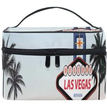 CW-Story ラスベガス 化粧ポーチ メイクポーチ ミニ 財布 機能的 大容量 化粧品収納 小物入れ 普段使い 出張 旅行 メイク ブラシ バッグ 化粧バッグ
