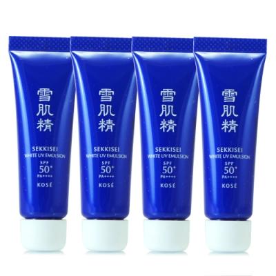 *KOSE高絲 雪肌精光感澄皙UV柔膚乳10g*4(正統公司貨)