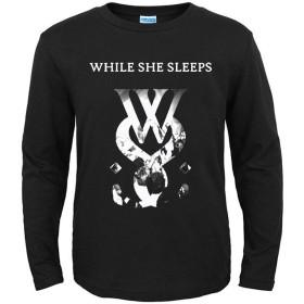 LALATP While She Sleeps ヒップホップ ロック 流行 欧米風 音楽 メンズ/レディース Tシャツ/春秋tシャツ ロングスリーブ Tシャツ 長袖 Tシャ