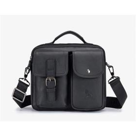 【Primary】ショルダーバッグ メンズ 本革 牛革カジュアル 2WYAトートバッグ 斜めがけバッグ メッセンジャーバッグ メンズバッグ 大容量 多機能肩掛け鞄 通勤 通学 旅行 出張 (ブラック)