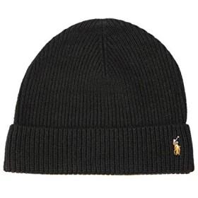 POLO RALPH LAUREN(ポロラルフローレン) ニット帽 ニットキャップ ウール ラルフ メンズ レディース ブラック [並行輸入品]