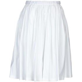《セール開催中》PRADA レディース ひざ丈スカート ホワイト 42 コットン 78% / ナイロン 19% / ポリウレタン 3%