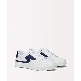 [シスレー] 靴 フェイクレザー切り替えスニーカー メンズ ホワイト系その他 42(27cm)
