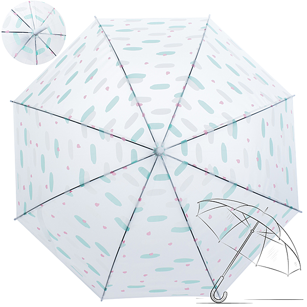 樂嫚妮 自動開傘/直立雨傘-馬卡龍方塊-白
