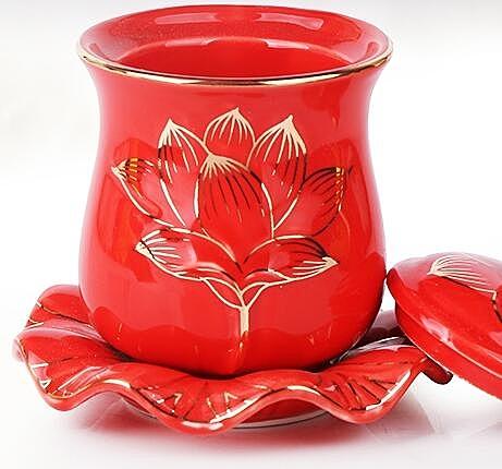 圣水杯蓮花凈水杯3個