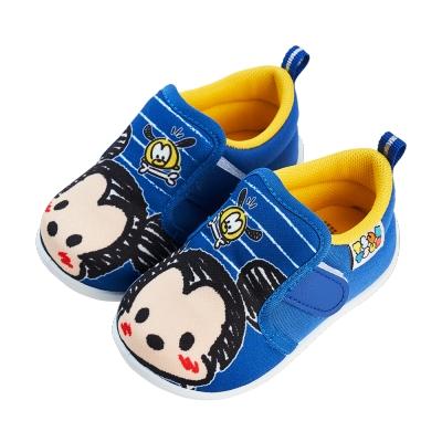 迪士尼童鞋 TsumTsum 塗鴉風寶寶學步鞋-藍(柏睿鞋業)