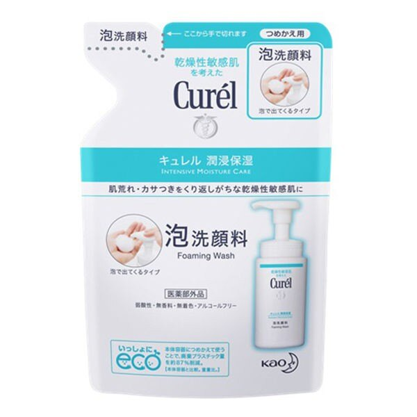 (小資族購物站)Curel 珂潤 潤浸保濕洗顏慕絲補充包 130ml
