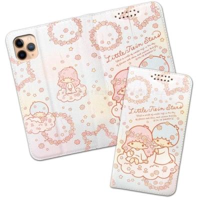 三麗鷗授權 iPhone 11 Pro 5.8吋 粉嫩系列彩繪磁力皮套(花圈)