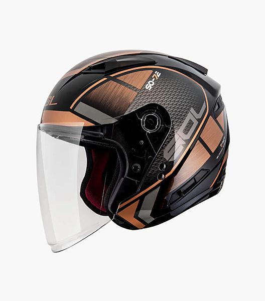 SOL安全帽,SO-7E,幻影/黑銅