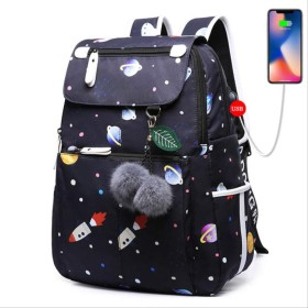 Usb充電ポート女子学生バッグ旅行と新しいバックパック スタイル 5