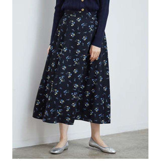 SALE開催中【ROPE' PICNIC:スカート】フラワープリントロングスカート