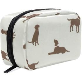 JunStyle 犬の骨 化粧ポーチ メイク収納 小物入れ 仕分け収納 軽量 大容量 通勤 出張 旅行用