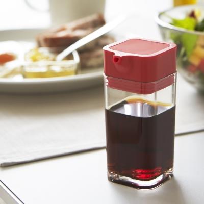 日本【YAMAZAKI】AQUA可調控醬油罐-紅
