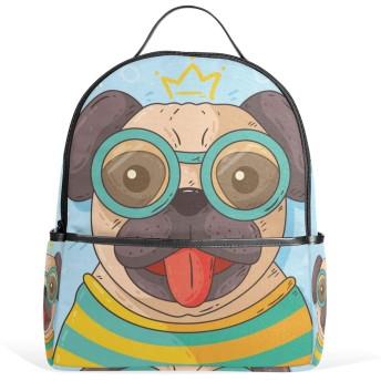 リュック リュックサック バックパック レディース 学生 大容量 デイバッグ パグ 犬 動物 おしゃれ 通勤 通学