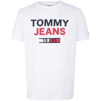 《セール開催中》TOMMY JEANS メンズ T シャツ ホワイト S オーガニックコットン 100% TJM 1985 LOGO TEE
