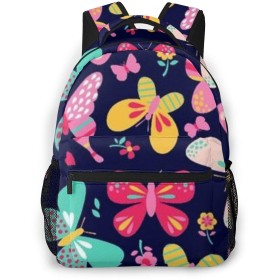 Colorful Butterfly カメラリュック スタイリッシュな 多機能 カジュアルデイパック ポリエステル 通勤/通学/出張/旅行などに適用 メンズ女性