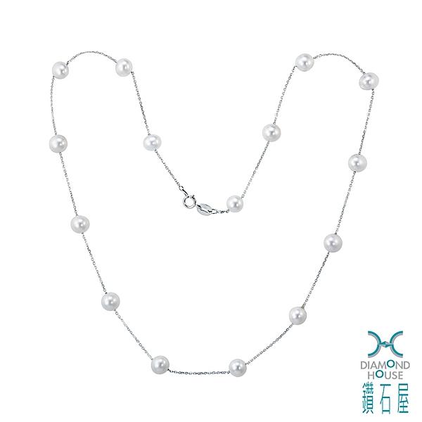 【鑽石屋】5mm珍珠項鍊 養珠項鍊