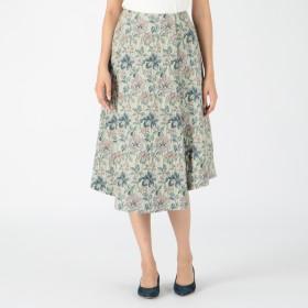 LE CIEL BLEU(ルシェルブルー)/Floral Jacquard A Line SK