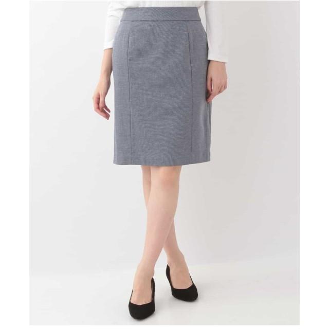 OFUON 【洗える】ジャージースカート その他 スカート,ブラック