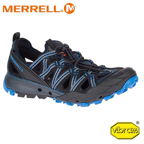 【MERRELL 美國 男 Choprock Shandal 水陸兩棲運動鞋《深灰/寶藍》】50365/低筒鞋/越野/防水