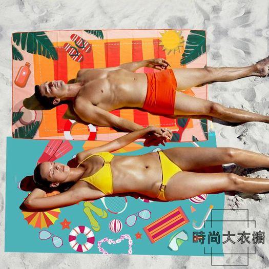 速干毛巾游泳沙灘溫泉浴巾運動健身戶外吸水旅行成人兒童海邊浴巾