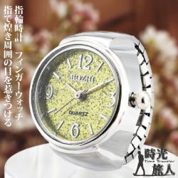 【時光旅人】馬卡龍繽紛色彩閃亮亮大數字造型錶戒指-指輪時計