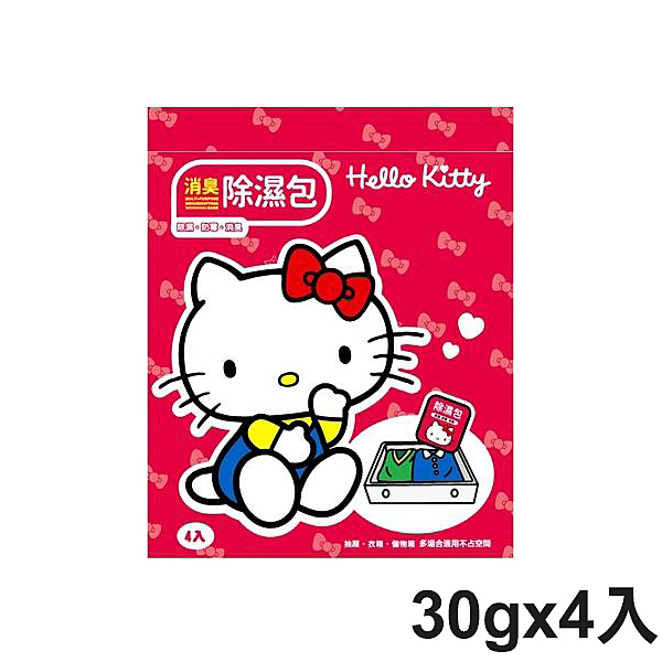 Hello Kitty 消臭除濕包 30gx4入 除濕 防霉 消臭【PQ 美妝】