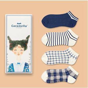 襪子禮盒 LIFEDIFF學院風棉質女襪 女士中筒襪短襪船襪隱形襪 禮盒裝女襪子